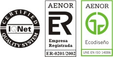 Certified IQNet - Aenor Empresa registrada - Aenor Ecodiseño - Estudio de Arquitectura Landaluce